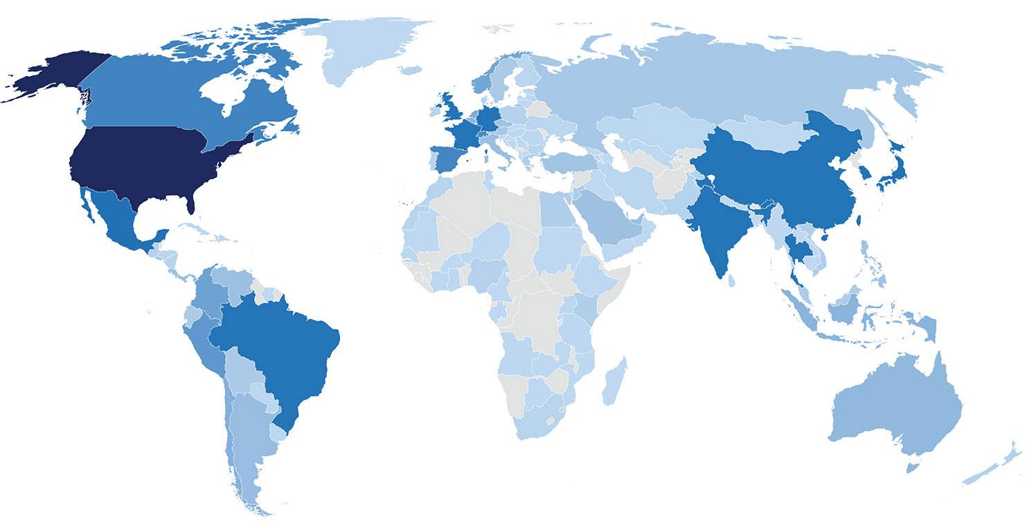 雷鸟校友全球分布图